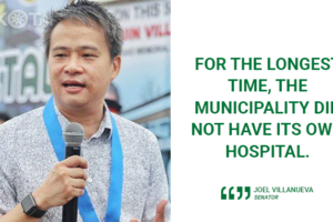 FIRST PUBLIC HOSPITAL IN BOCAUE SOON – VILLANUEVA