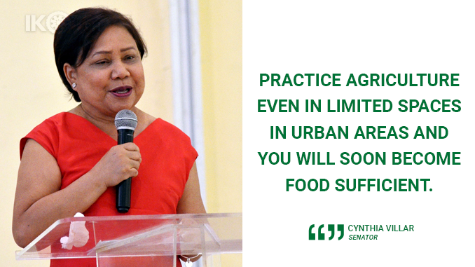 URBAN AGRICULTURE WILL ADDRESS FOOD SUFFICIENCY – VILLAR