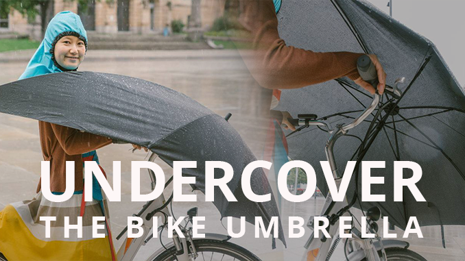 A HANDS-FREE UMBRELLA FOR BIKERS