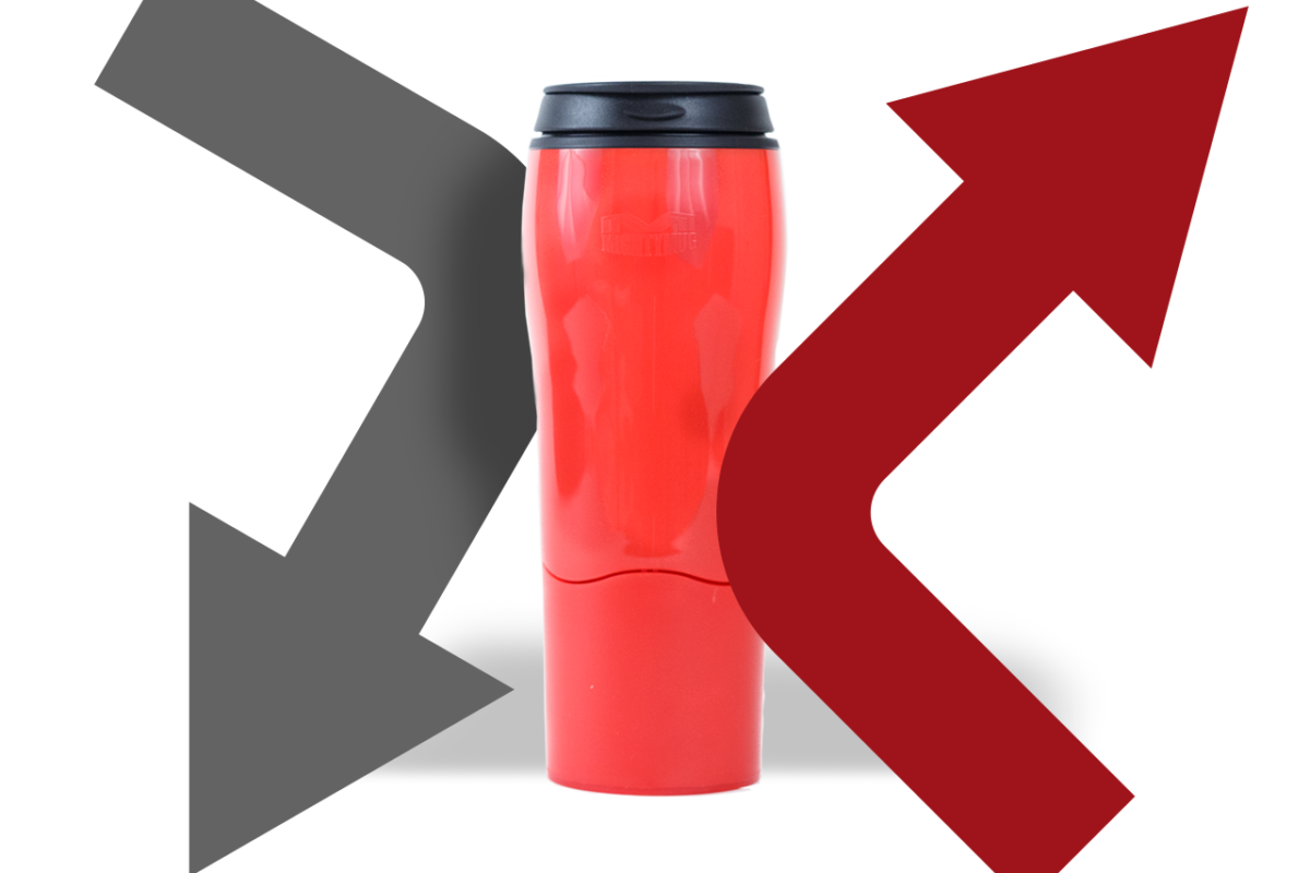 MIGHTY MUG: NO MORE COFFEE SPILLS