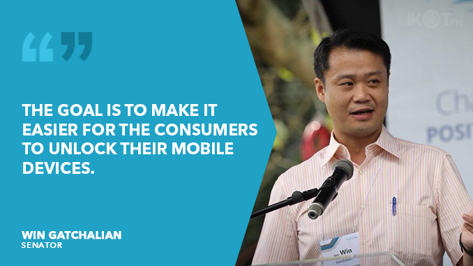 UNLOCK MOBILE DEVICES UPON END OF CONTRACT – GATCHALIAN