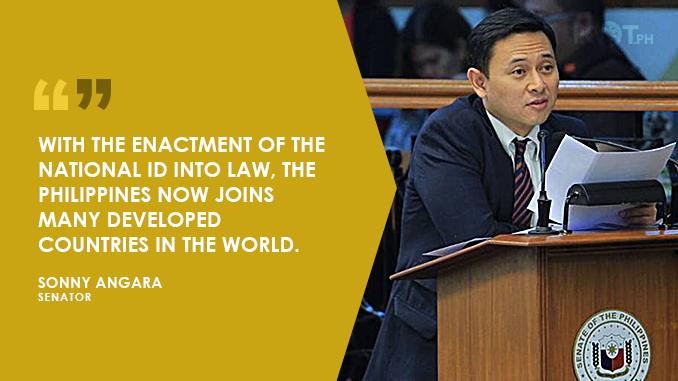 NATIONAL ID SYSTEM TO EMPOWER FILIPINOS – ANGARA