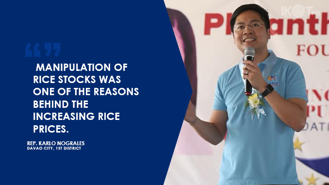 RICE HOARDING IS ECONOMIC SABOTAGE, NOT INVENTORY MANAGEMENT – NOGRALES