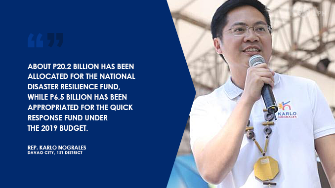 FUNDING FOR DISASTER RESILIENCE DEPARTMENT BILL APPROVED – NOGRALES