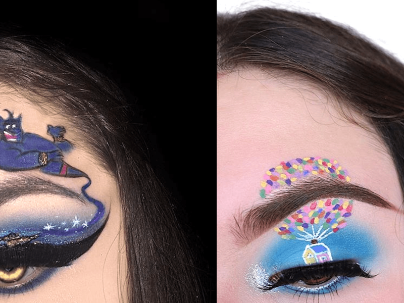 EYE MAKEUP INSPIRED BY CARTOONS