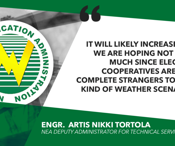 INITIAL COST OF DAMAGE TO ECs DUE TO 'OMPONG' AT P135M – NEA