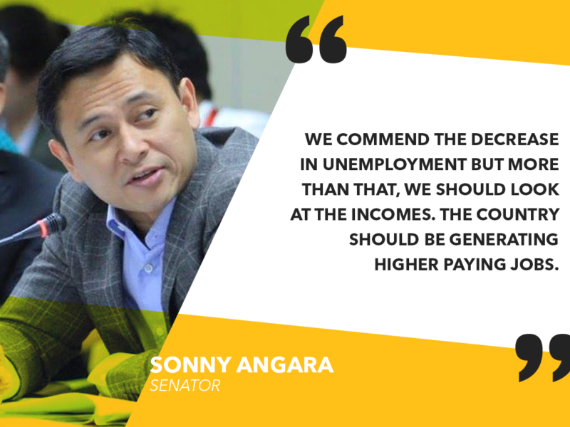 GOVERNMENT SHOULD INTENSIFY JOBS PROGRAMS – ANGARA