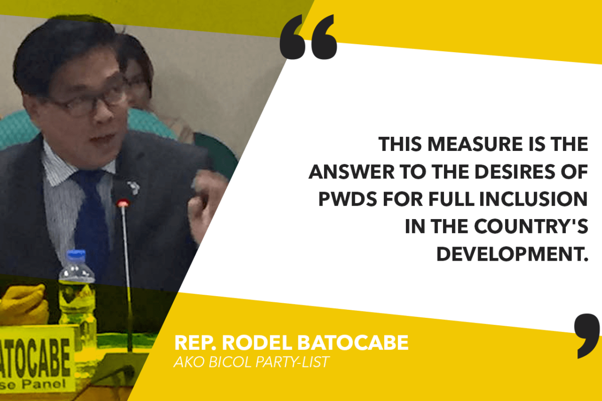 HOUSE APPROVES PWD's MANDATORY PHILHEALTH COVERAGE – BATOCABE