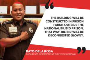 ONE NEW PRISON BUILDING BUILT EACH YEAR – DELA ROSA