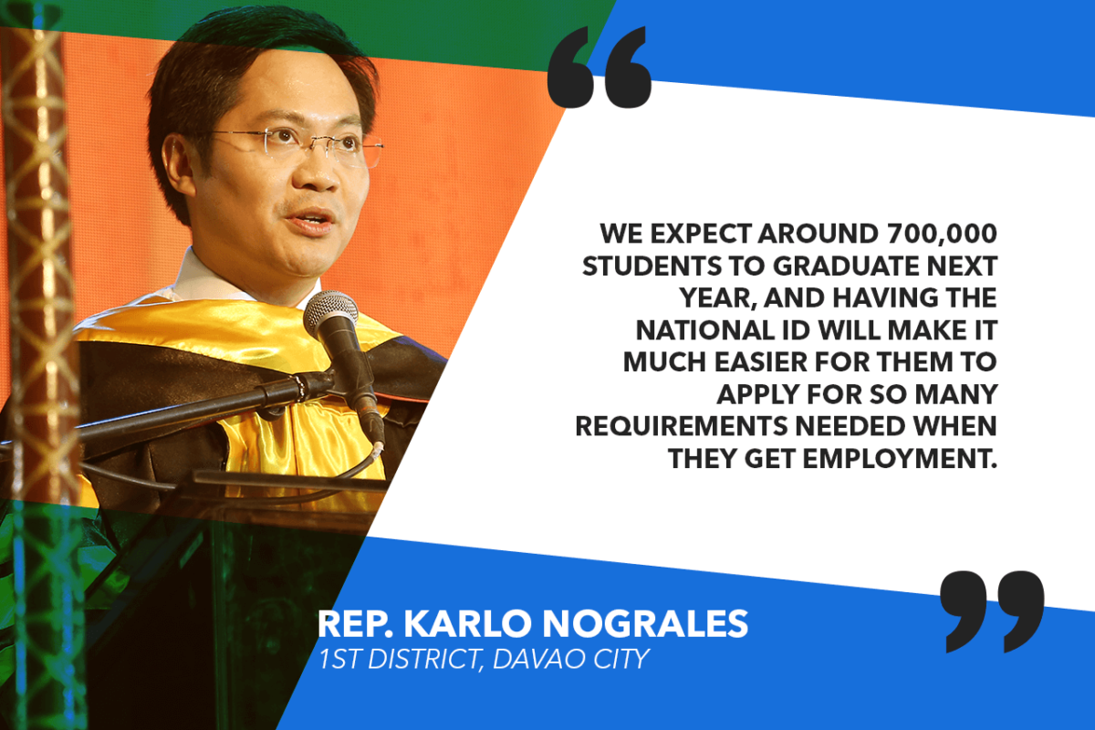 PRIORITIZE 2019 GRADS IN NATIONAL ID ROLLOUT – NOGRALES