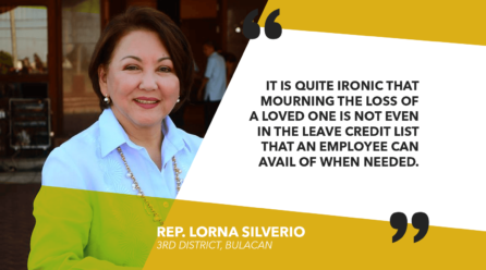 HOUSE TACKLES 5 BILLS GRANTING BEREAVEMENT LEAVE FOR GOV'T AND PRIVATE SECTOR WORKERS – SILVERIO