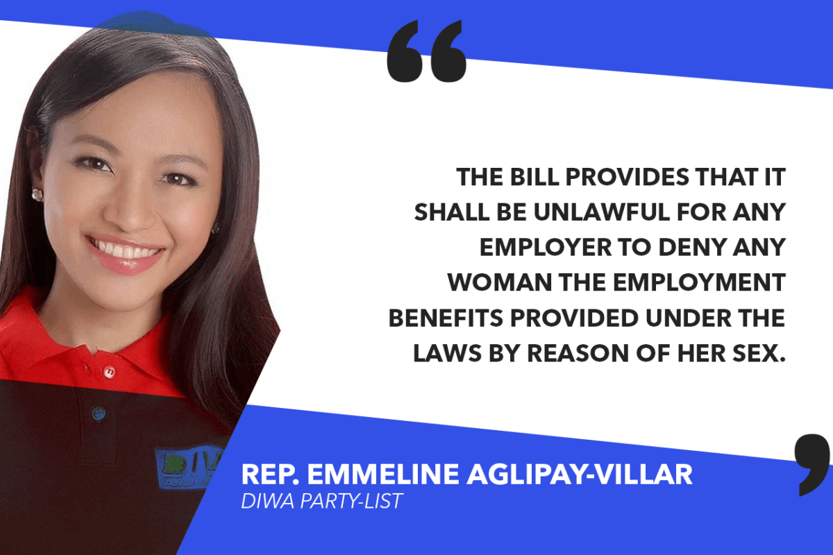 HOUSE APPROVES BILL EXPANDING COVERAGE OF PROHIBITED DISCRIMINATORY ACTS VS WOMEN – AGLIPAY-VILLAR