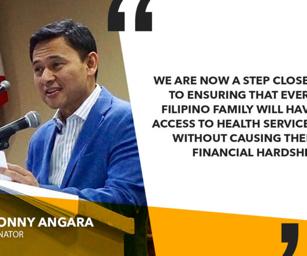UNIVERSAL HEALTH CARE BILL TO MAKE SURE FILIPINOS WILL HAVE ACCESS TO QUALITY, AFFORDABLE MEDICINES – ANGARA