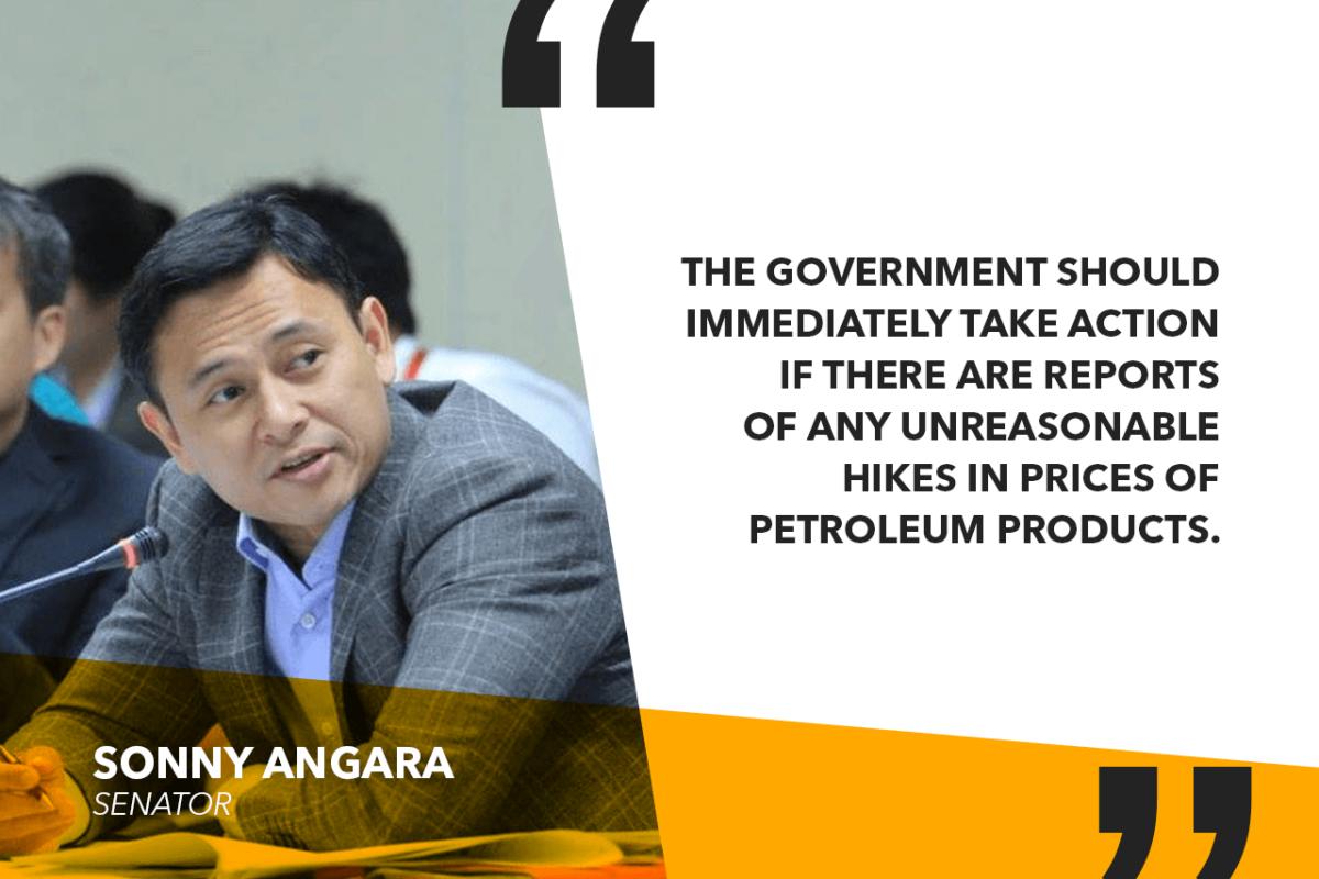 ANGARA TO DOE, DOJ: FORM TASK FORCE TO PROBE UNREASONABLE OIL PRICE HIKES