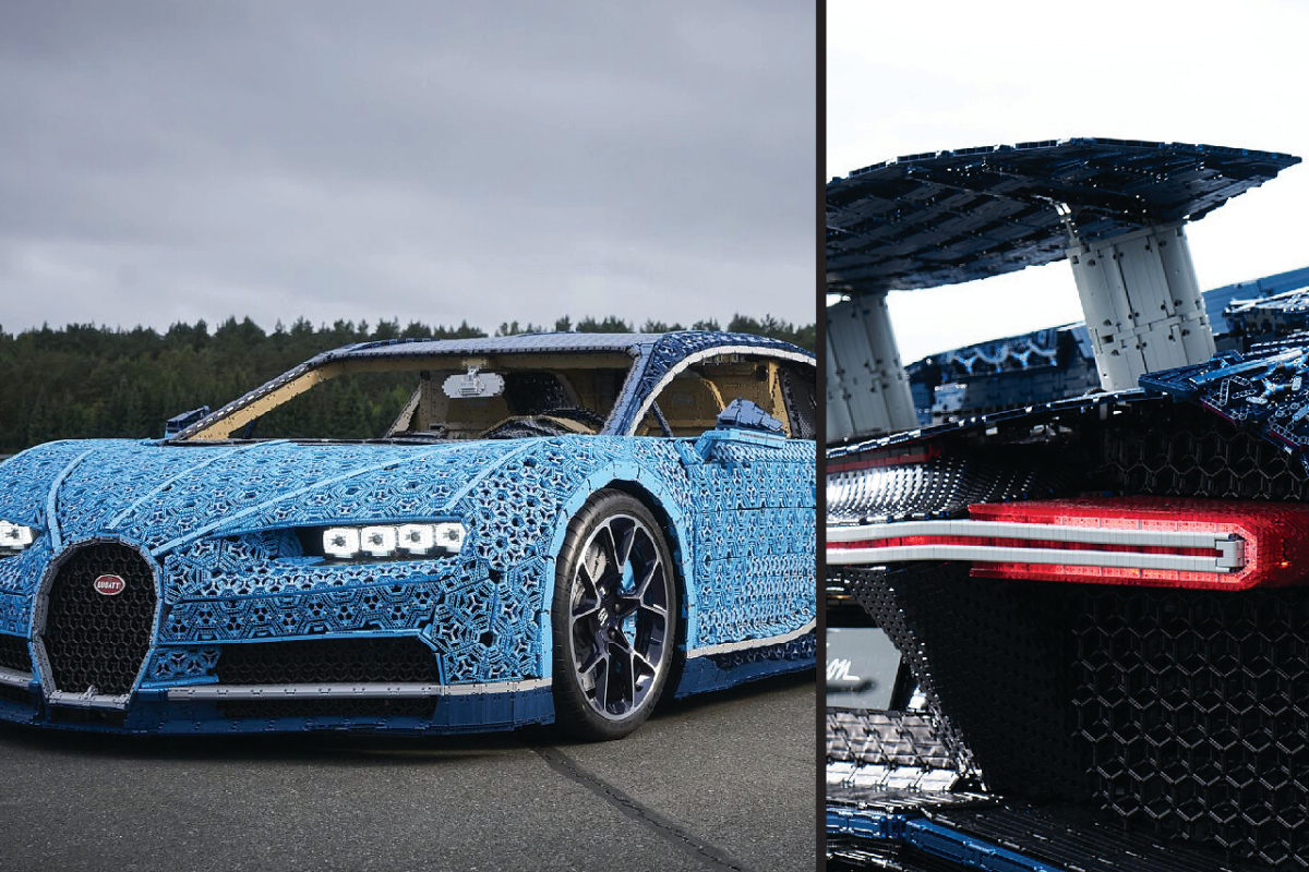 A CAR MADE OF LEGO PIECES