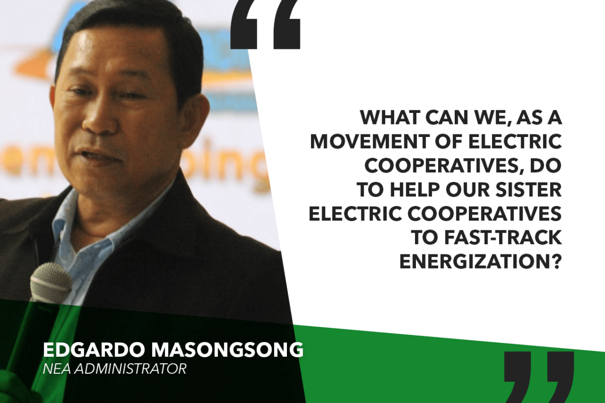 ECs SHOULD DO MORE TO ELECTRIFY AREAS THAT REMAIN UNLIT – MASONGSONG