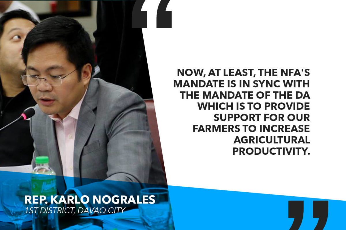 LIFTING OF QR ON RICE IMPORTS SHOULD PROMPT DA, NFA TO BUY ONLY LOCAL FOR ITS BUFFER STOCKS – NOGRALES