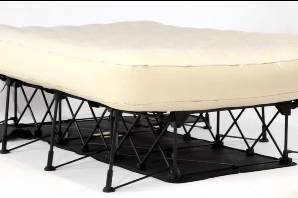 THE PORTABLE SELF-INFLATING BED