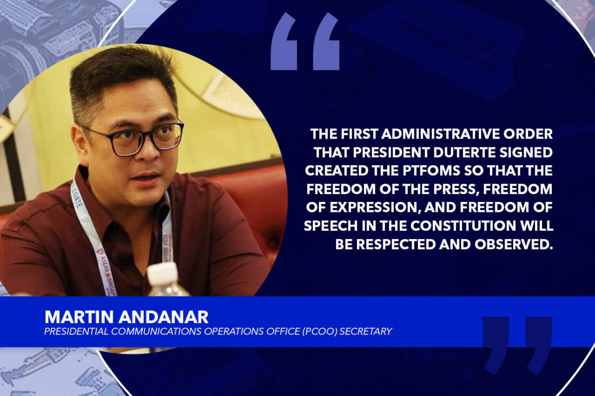 DUTERTE ADMINISTRATION GIVES PRIORITY TO MEDIA SECURITY – ANDANAR