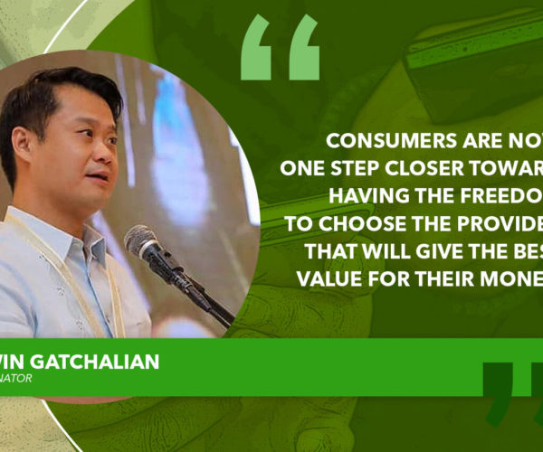 BICAMERAL CONFERENCE COMMITTEE APPROVES LIFETIME CELLPHONE NUMBER ACT – GATCHALIAN