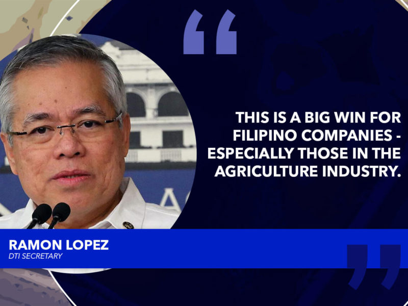 THE PHILIPPINES EXCEEDS SALES FORECAST IN CHINA EXPO – LOPEZ