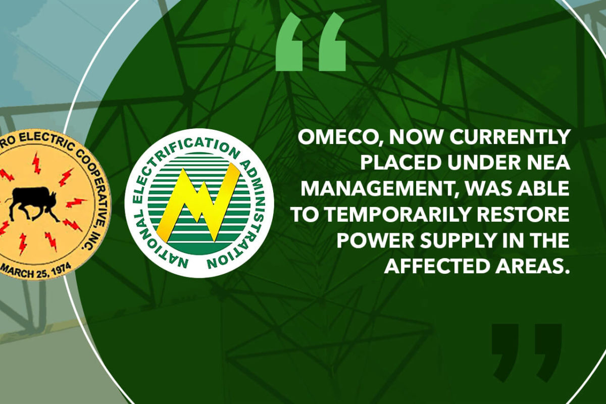 NEA EXTENDS AID TO OMECO AS POWER CRISIS LOOMS IN OCCIDENTAL MINDORO