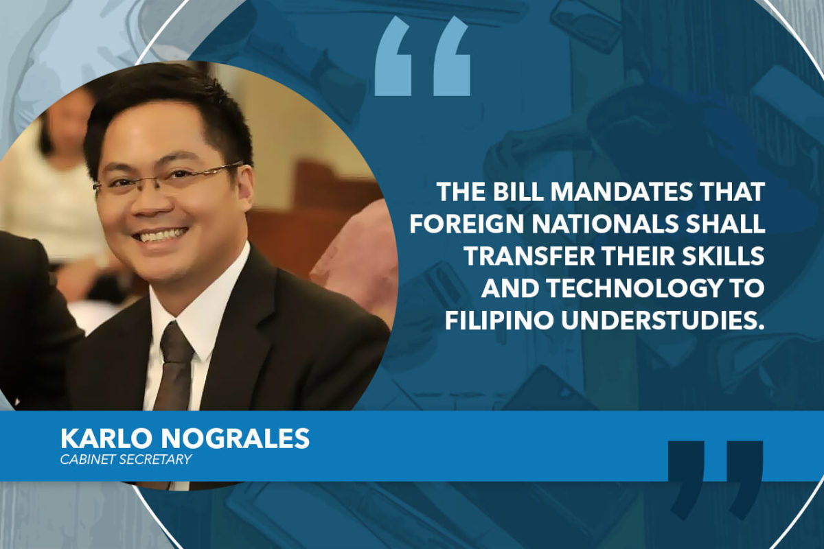 HOUSE APPROVES ON SECOND READING BILL REGULATING EMPLOYMENT OF FOREIGN NATIONALS – NOGRALES