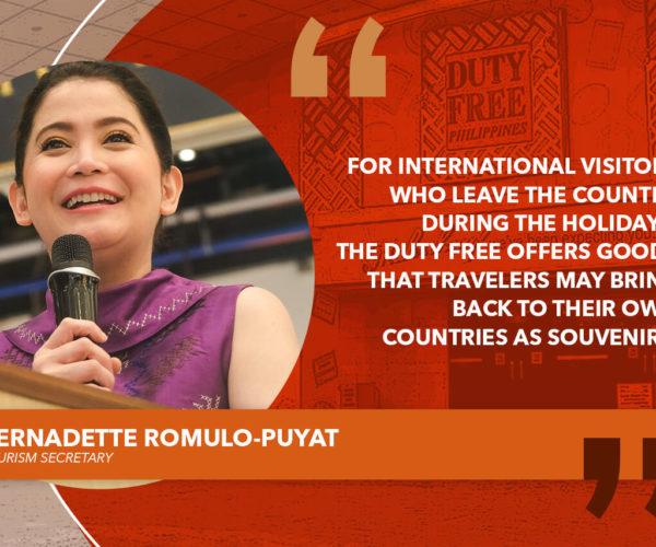UTILIZE DUTY FREE TO INTRODUCE FILIPINO PRODUCTS – ROMULO-PUYAT