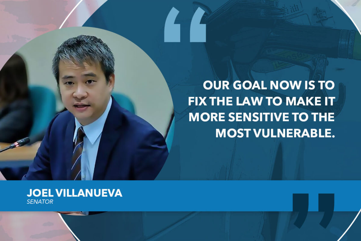 FIX FUEL TAX HIKE UNDER TRAIN LAW – VILLANUEVA