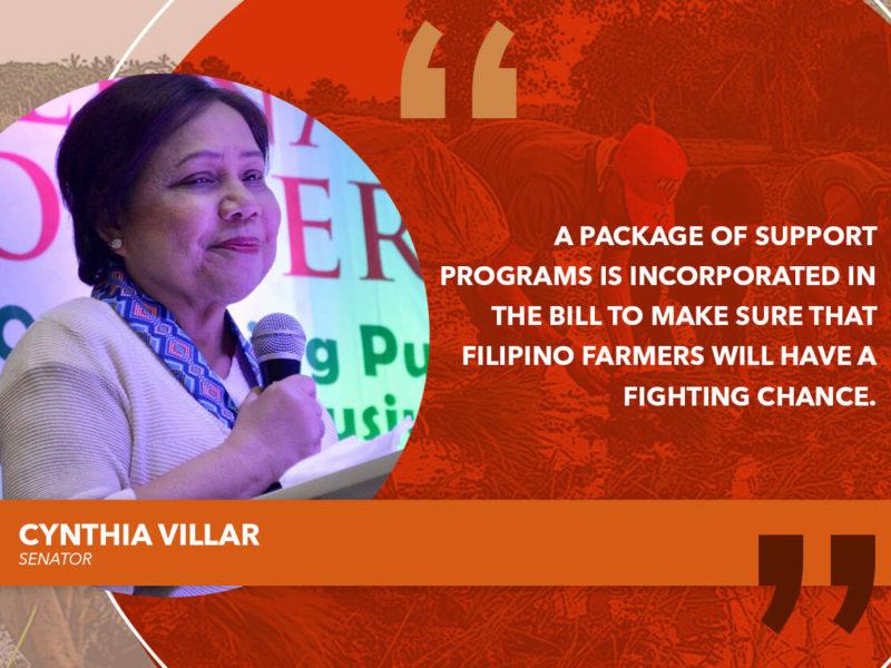 RICE TARIFFICATION BILL TO PROTECT FARMERS – VILLAR