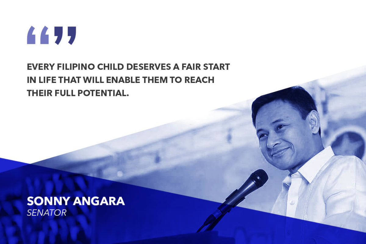 FIRST 1,000 DAYS LAW AN IMPORTANT STEP TOWARDS SECURING A BRIGHTER FUTURE FOR FILIPINO CHILDREN – ANGARA