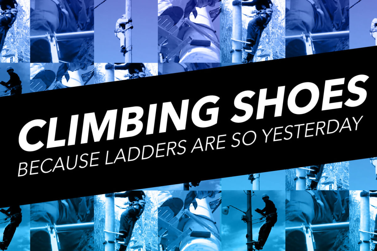 GOODBYE LADDER, HELLO CLIMBING SHOES!