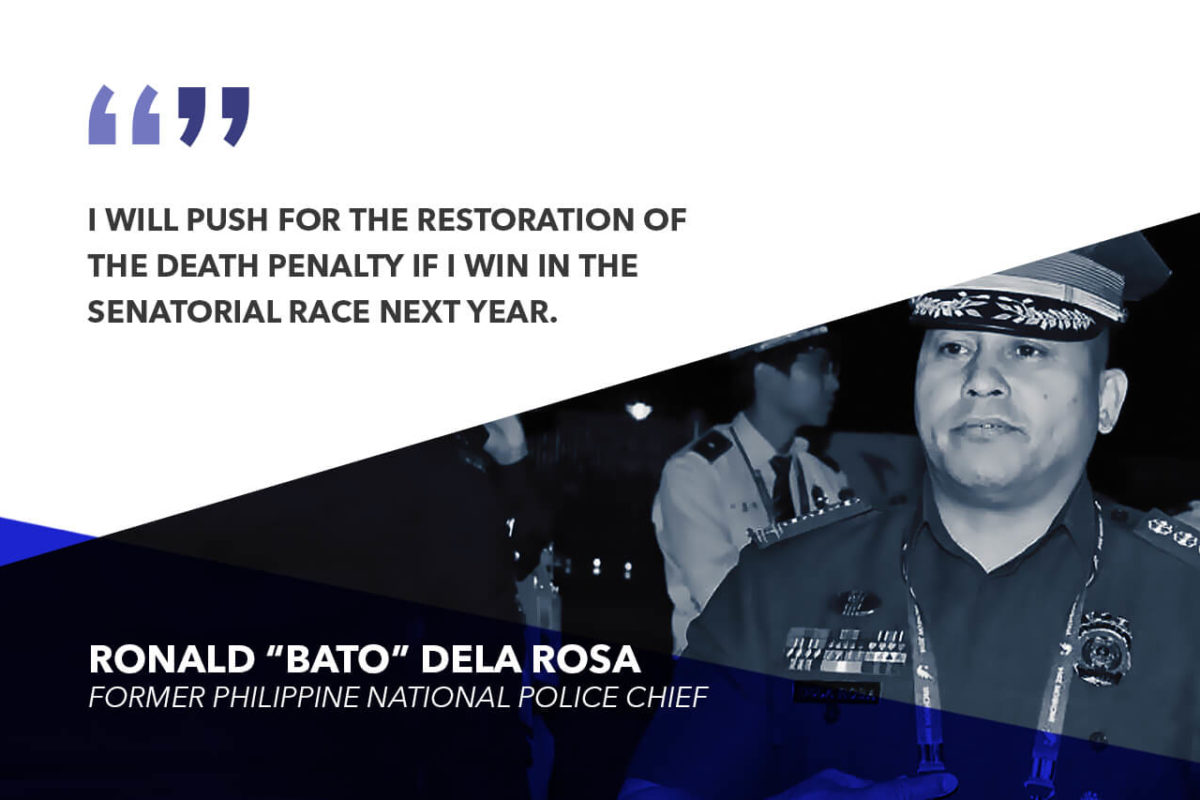 DEATH PENALTY IS THE ONLY SOLUTION TO SOLVE THE DRUG MENACE – DELA ROSA
