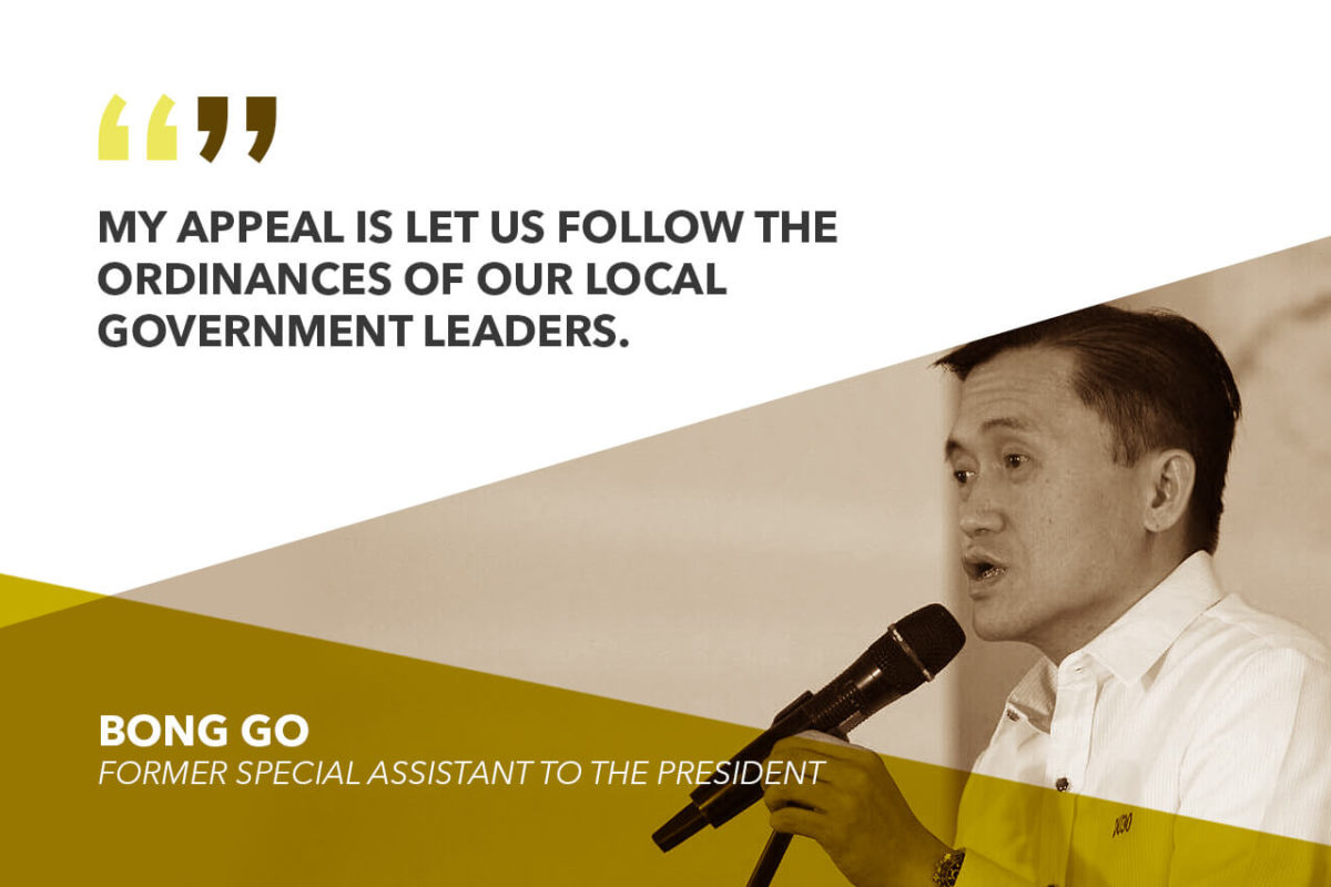GO TO SUPPORTERS: HELP POOR, FIRE VICTIMS INSTEAD OF SPENDING FOR MY TARPAULINS