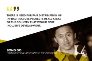 PUSH FOR RURAL DEVELOPMENT TO DECONGEST METRO MANILA – GO