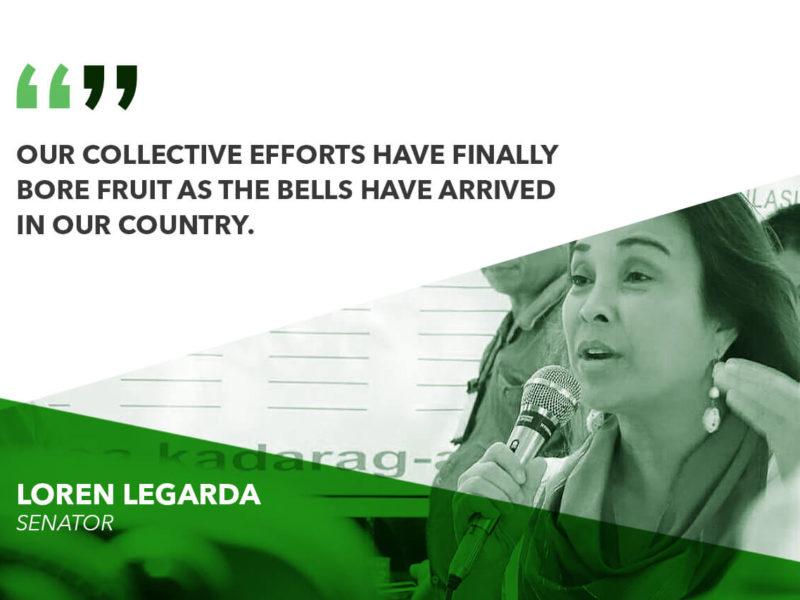 RETURN OF BALANGIGA BELLS IS A SIGN OF GOODWILL, SOLIDARITY – LEGARDA