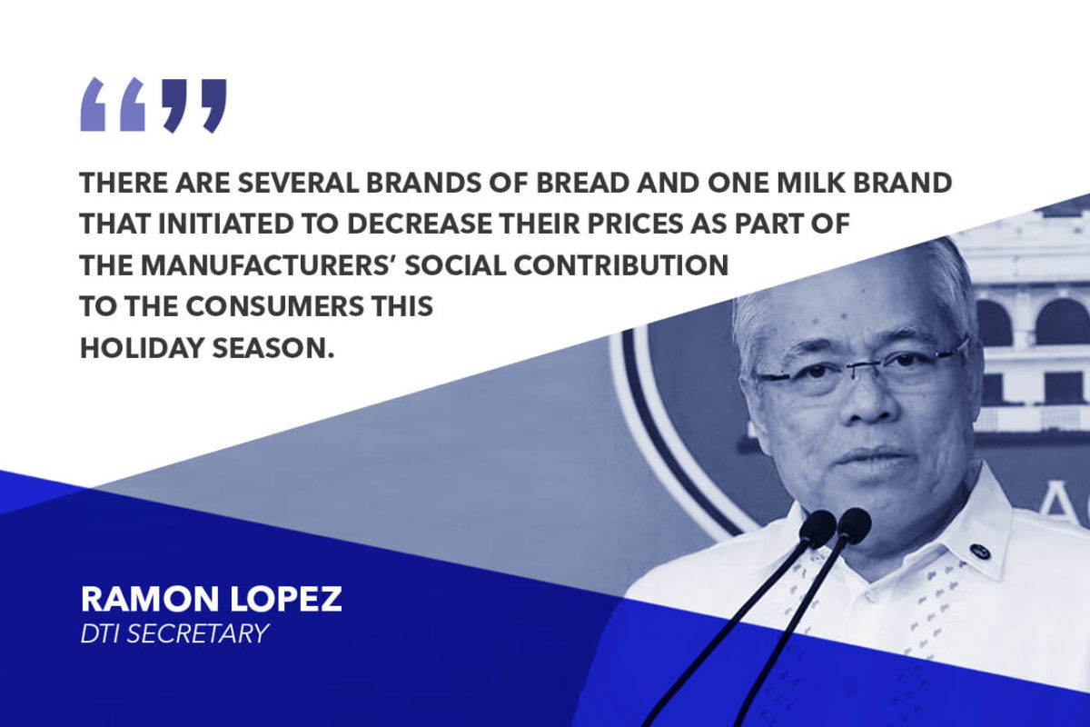 ALL BASIC AND PRIME GOODS TO RETAIN CURRENT SRPs UNTIL FIRST QUARTER OF 2019 – LOPEZ
