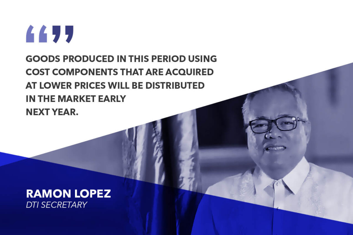 PRICES OF GOODS TO DECLINE IN Q1 2019 – LOPEZ