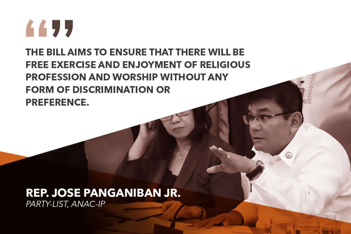 HOUSE APPROVES ANTI-RACIAL, ETHNIC AND RELIGIOUS DISCRIMINATION BILL – PANGANIBAN