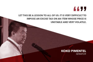 SCRAP EXCISE TAX ON FUEL – PIMENTEL