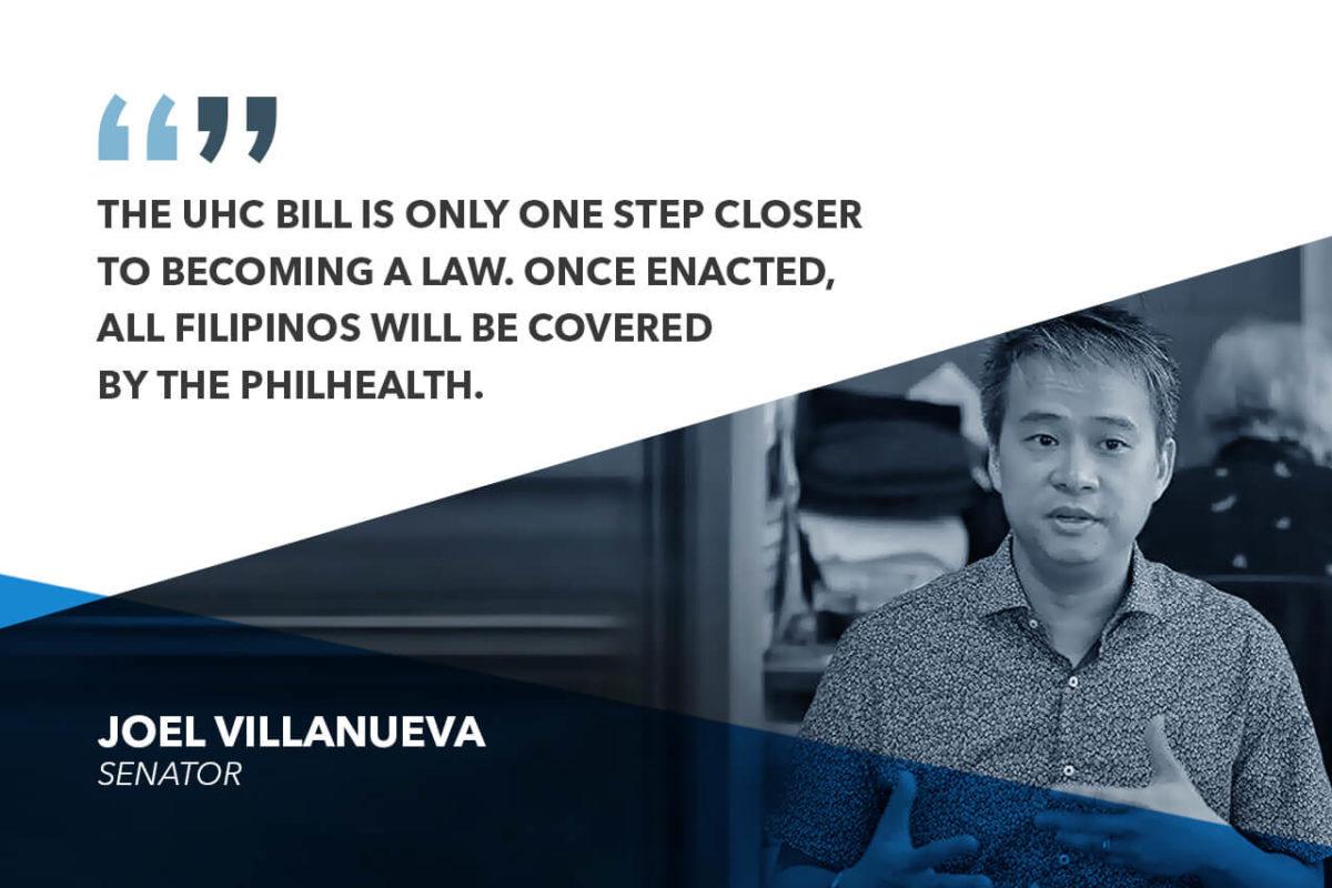 SENATE RATIFICATION OF UNIVERSAL HEALTH CARE BILL A CHRISTMAS GIFT TO FILIPINOS – VILLANUEVA
