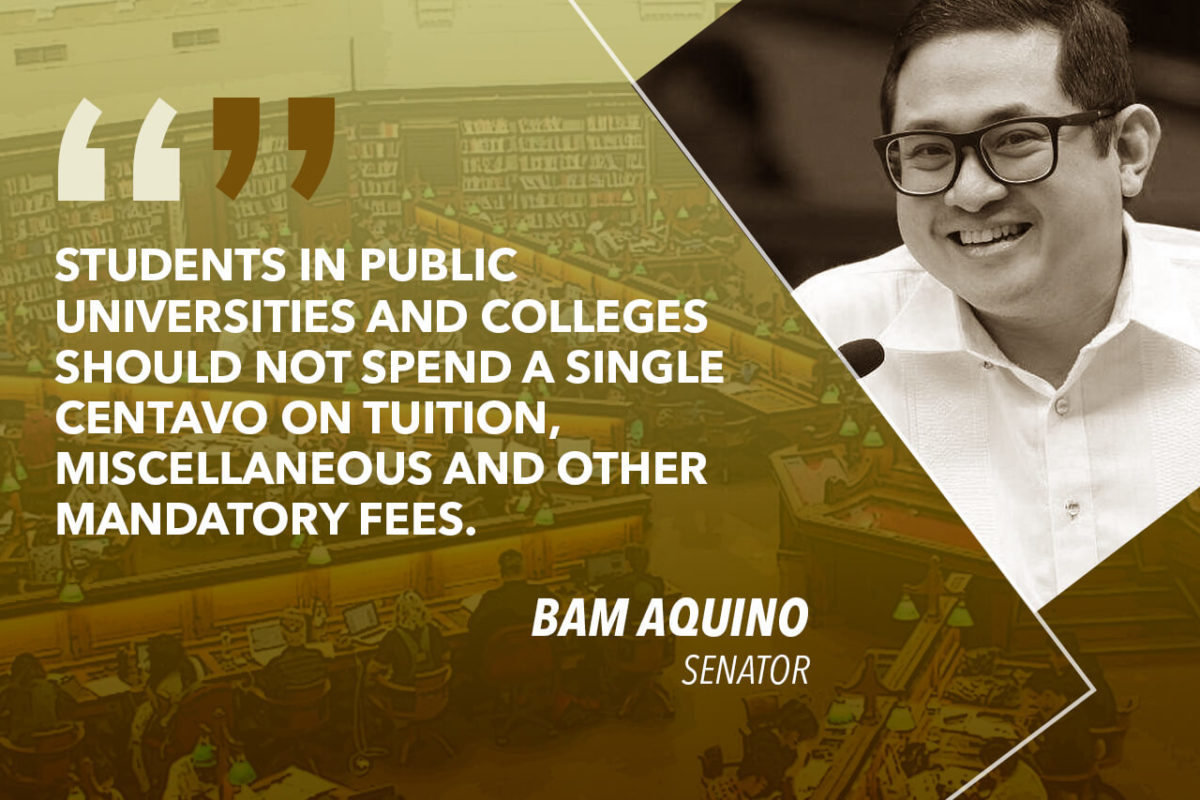 COMPLETELY IMPLEMENT FREE COLLEGE LAW IN 2019 – AQUINO