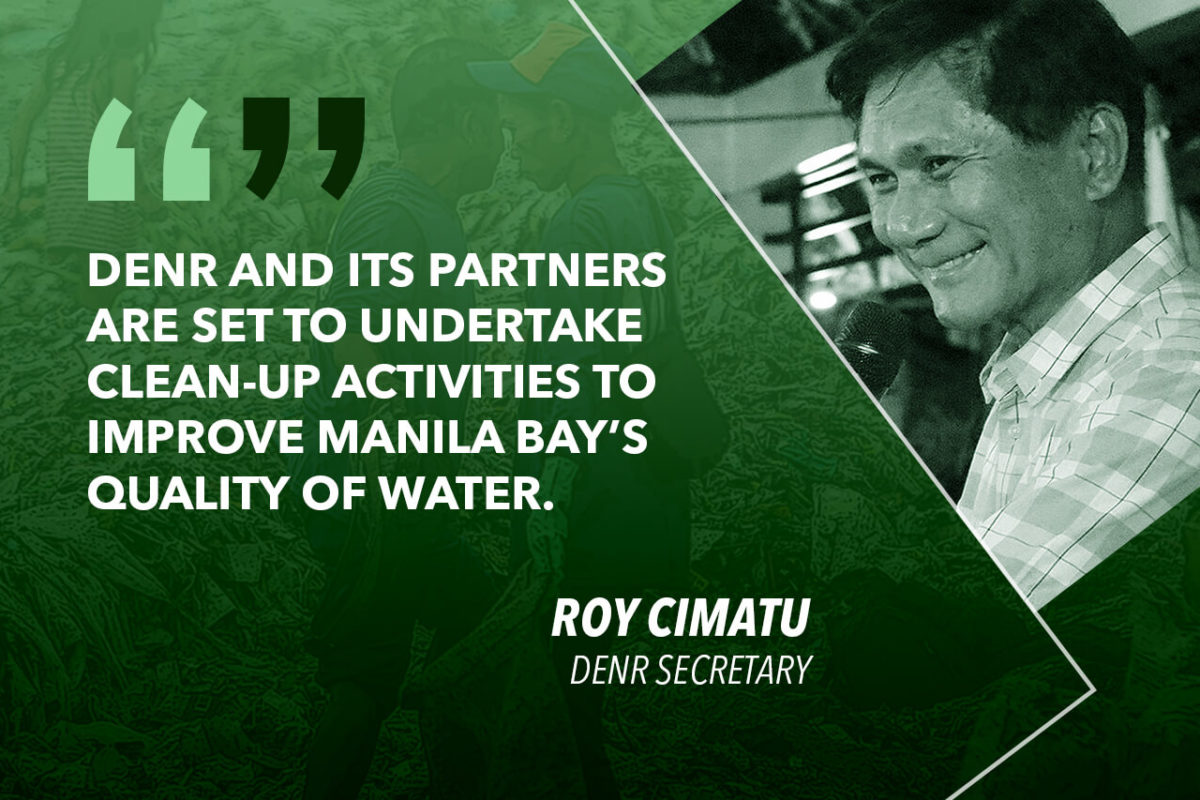 DENR TO LAUNCH MANILA BAY CLEAN UP IN NCR, CENTRAL LUZON AND CALABARZON – CIMATU