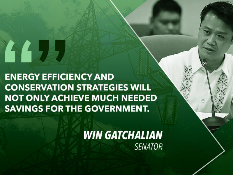BICAM APPROVES ENERGY EFFICIENCY AND CONSERVATION ACT – GATCHALIAN