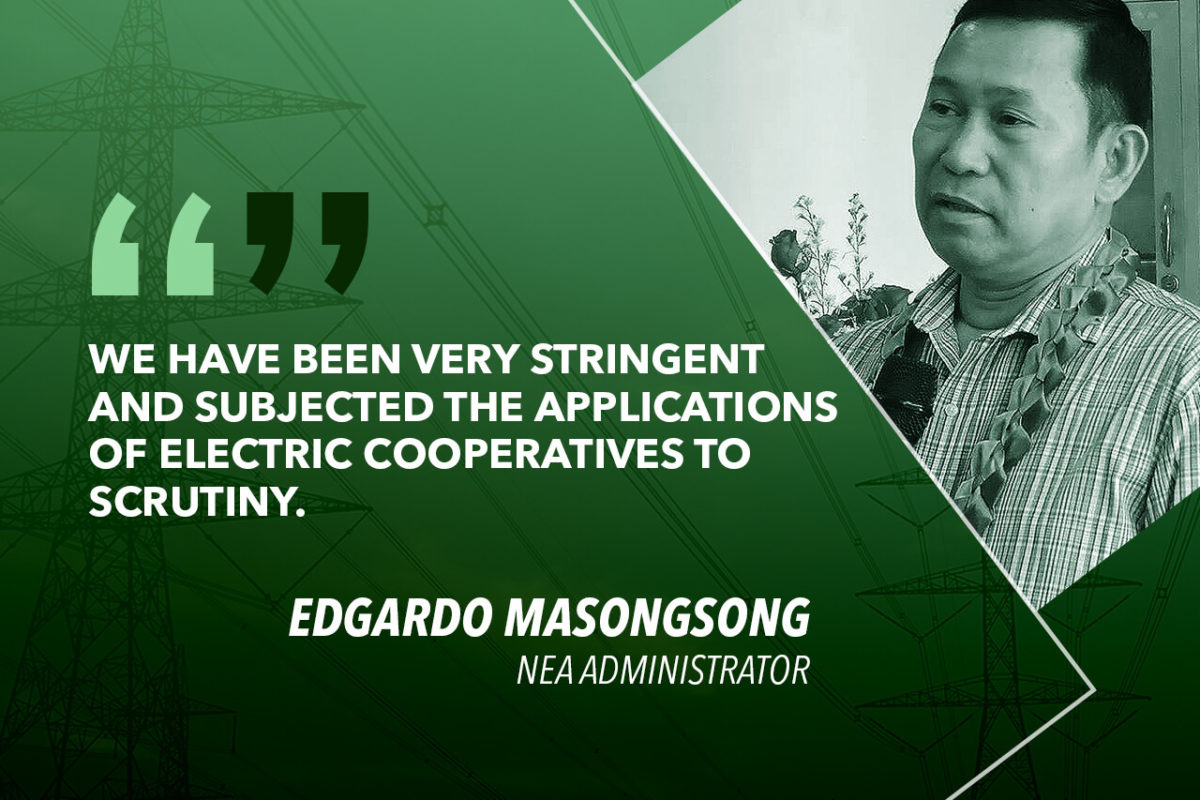 ELECTRIFICATION PROJECTS IN 2018 FUNDED THROUGH NEA LOAN FACILITY – MASONGSONG