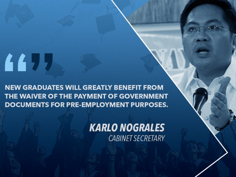 HOUSE APPROVES BILL WAIVING GOV'T FEES FOR FIRST-TIME JOB APPLICANTS – NOGRALES