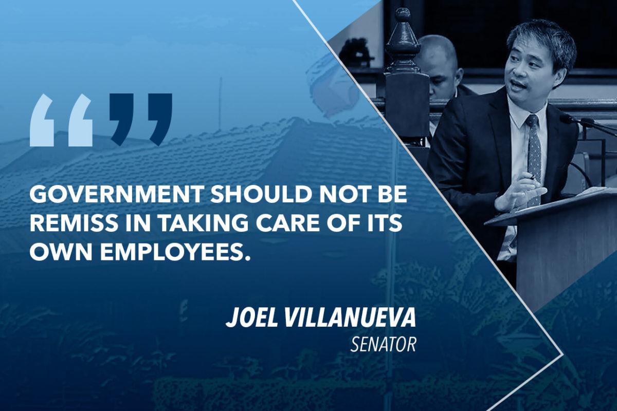 VILLANUEVA TO OTS: GIVE BENEFITS TO EMPLOYEES