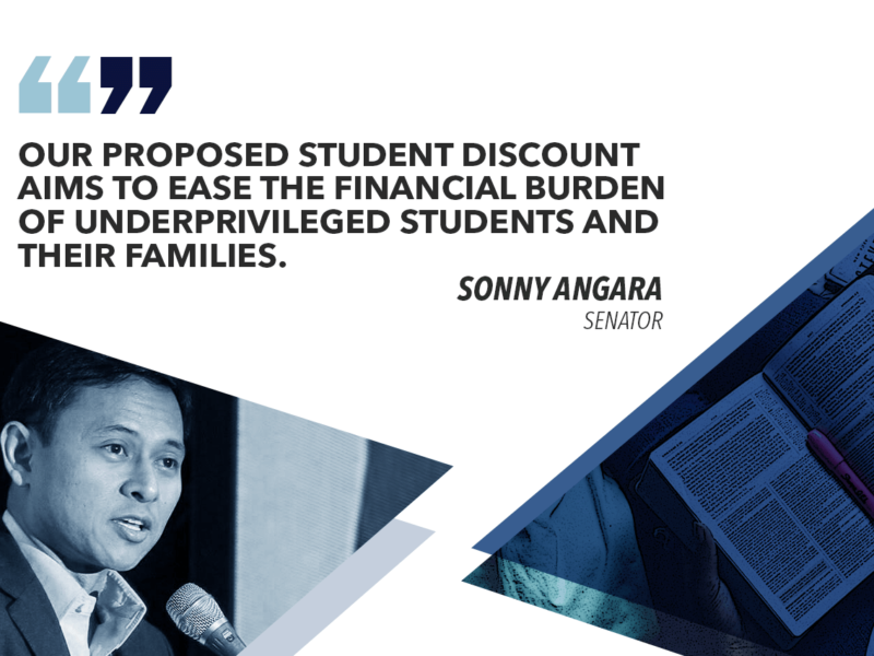 GIVE STUDENTS 5% DISCOUNT ON RESTAURANTS, MEDICINES, TEXTBOOKS, SCHOOL SUPPLIES – ANGARA