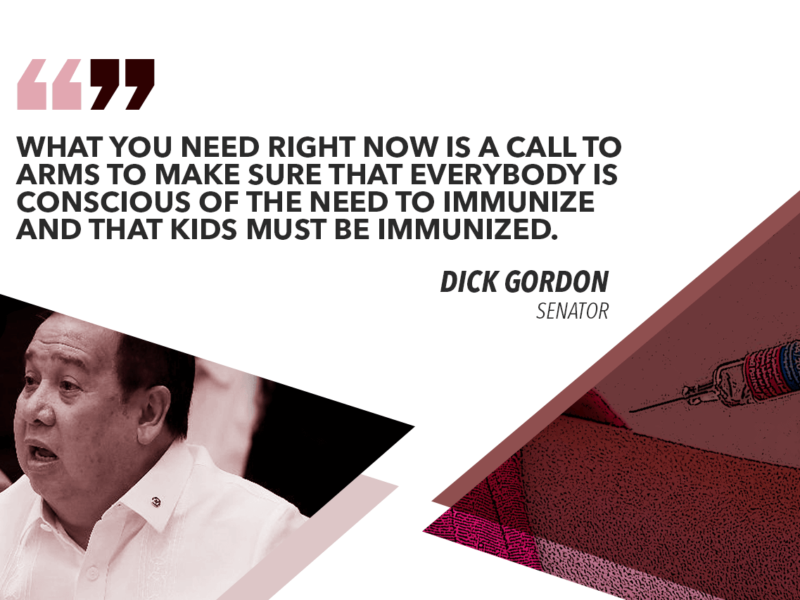 GORDON TO DOH: BOOST INFO DRIVE ON MEASLES VACCINE