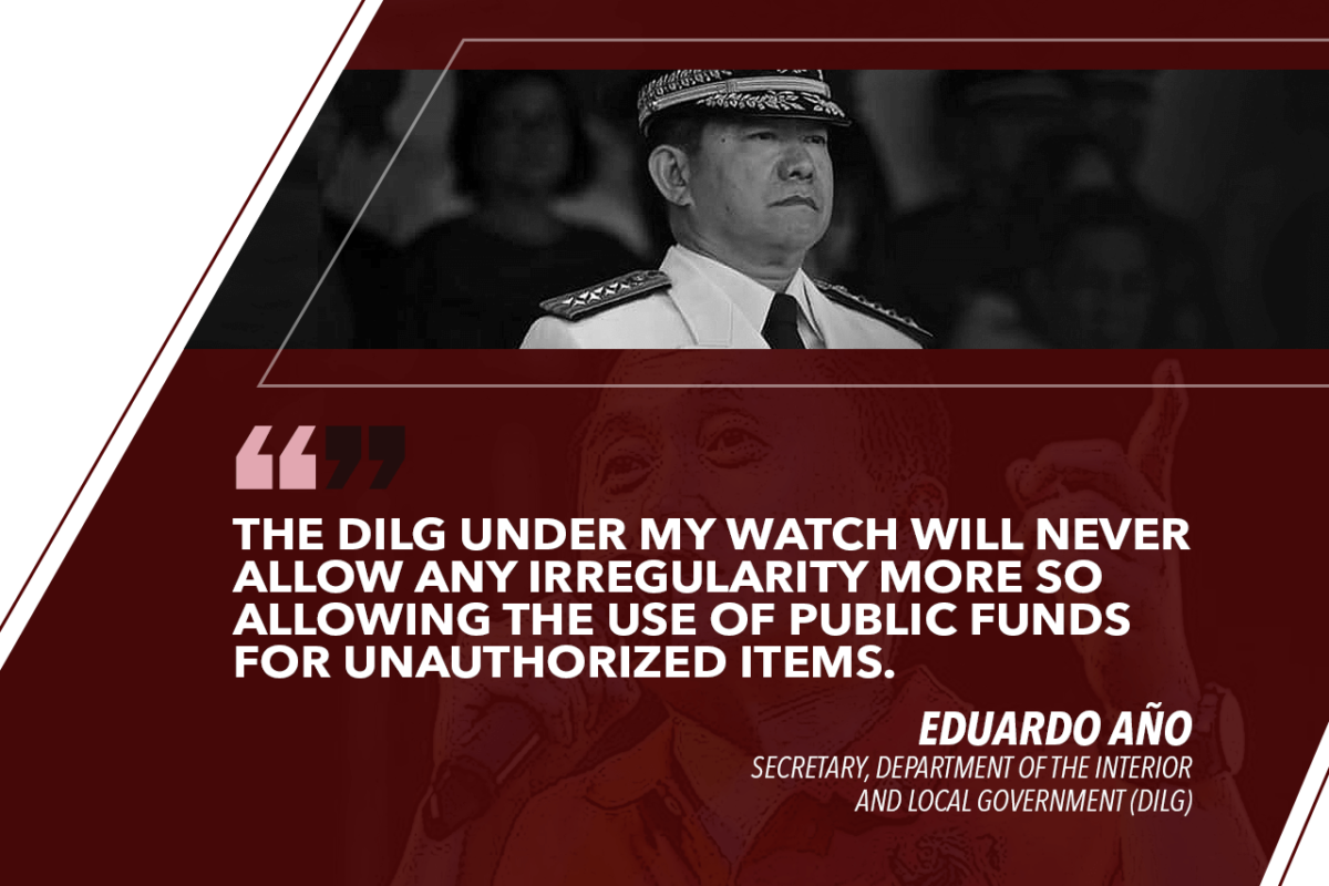 NO GOV'T FUNDS USED FOR BONG GO SHIRTS – AÑO